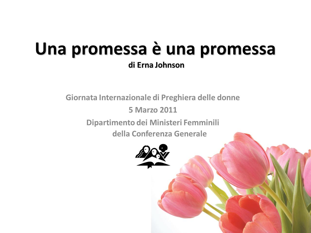 Giornata Internazionale di Preghiera delle Donne Avventiste – 2011 (cartoncini)