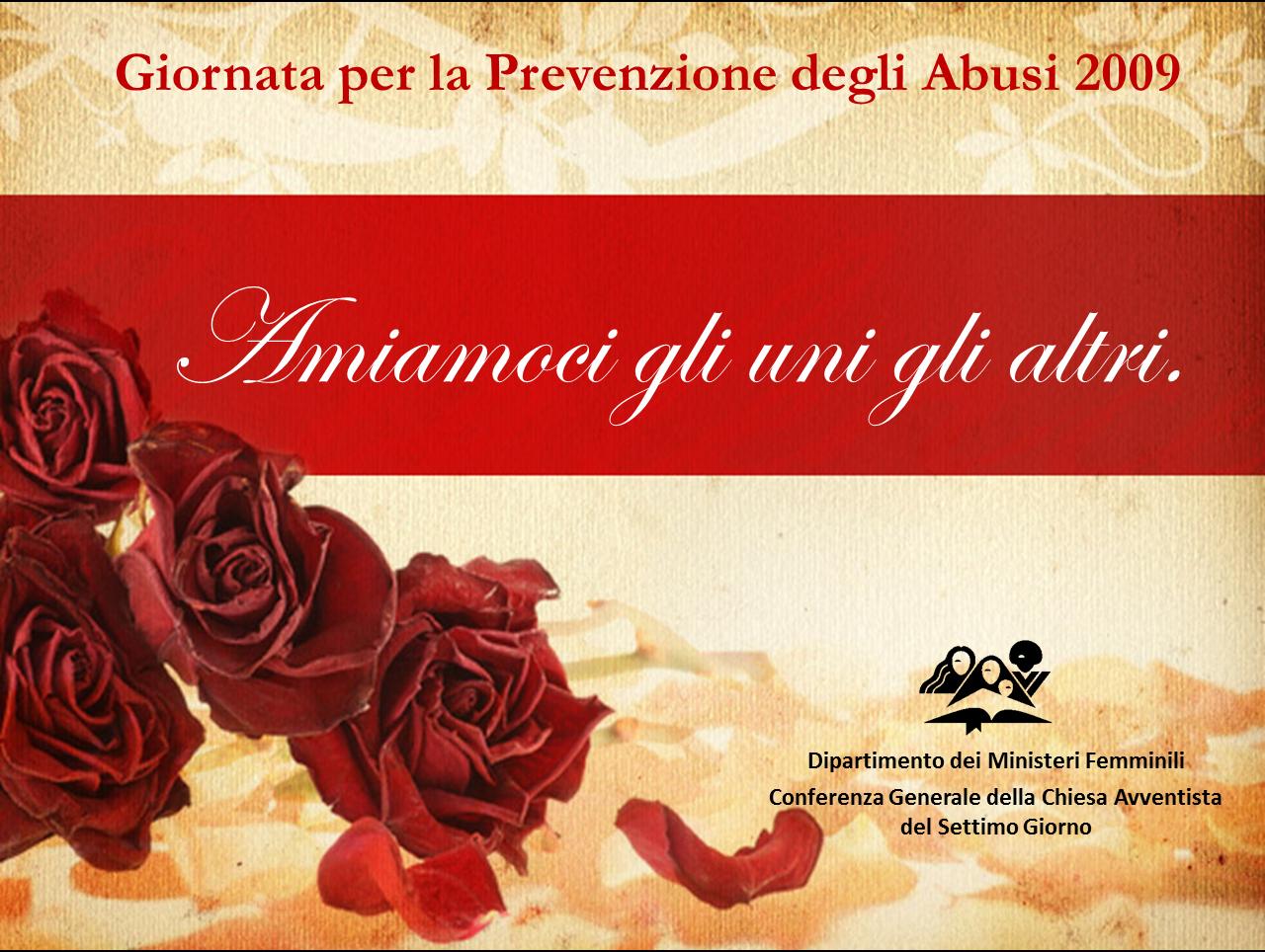 Giornata Internazionale di Prevenzione degli Abusi – 2009 (ppt)