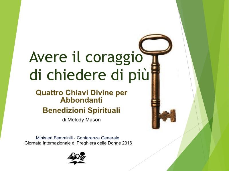 Giornata Internazionale di Preghiera delle Donne Avventiste – 2016 (sermone + ppt)